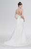 ColsBM Clarissa White Elegant Outdoor Strapless Sleeveless Zipper Chapel Train Ruching Bridal Gowns