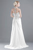 ColsBM Eden White Cinderella A-line Sweetheart Sleeveless Criss-cross Straps Brush Train Plus Size Bridesmaid Dresses