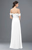 ColsBM Sylvia White Bridesmaid Dresses Mature Floor Length Sweetheart Ruching A-line Zip up
