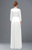 ColsBM Andie White Bridesmaid Dresses Ruching Modest Zipper Floor Length A-line V-neck