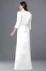ColsBM Erica White Traditional Criss-cross Straps Satin Floor Length Pick up Mother of the Bride Dresses