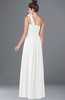 ColsBM Elisa White Simple A-line One Shoulder Half Backless Chiffon Flower Bridesmaid Dresses