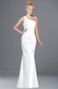 ColsBM Michelle White Simple A-line Sleeveless Chiffon Floor Length Bridesmaid Dresses