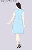 ColsBM Jane Blue Turquoise Mature Fit-n-Flare High Neck Zip up Chiffon Bridesmaid Dresses
