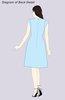 ColsBM Jane Cornflower Blue Mature Fit-n-Flare High Neck Zip up Chiffon Bridesmaid Dresses