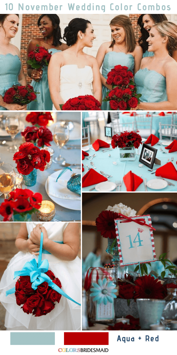 10 Gorgeous November Wedding Color Palettes in 2018-3 - ColorsBridesmaid