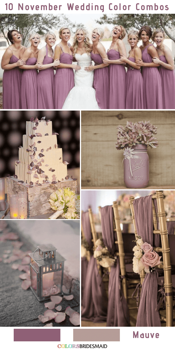 10 Gorgeous November Wedding Color Palettes In 2018 Colorsbridesmaid