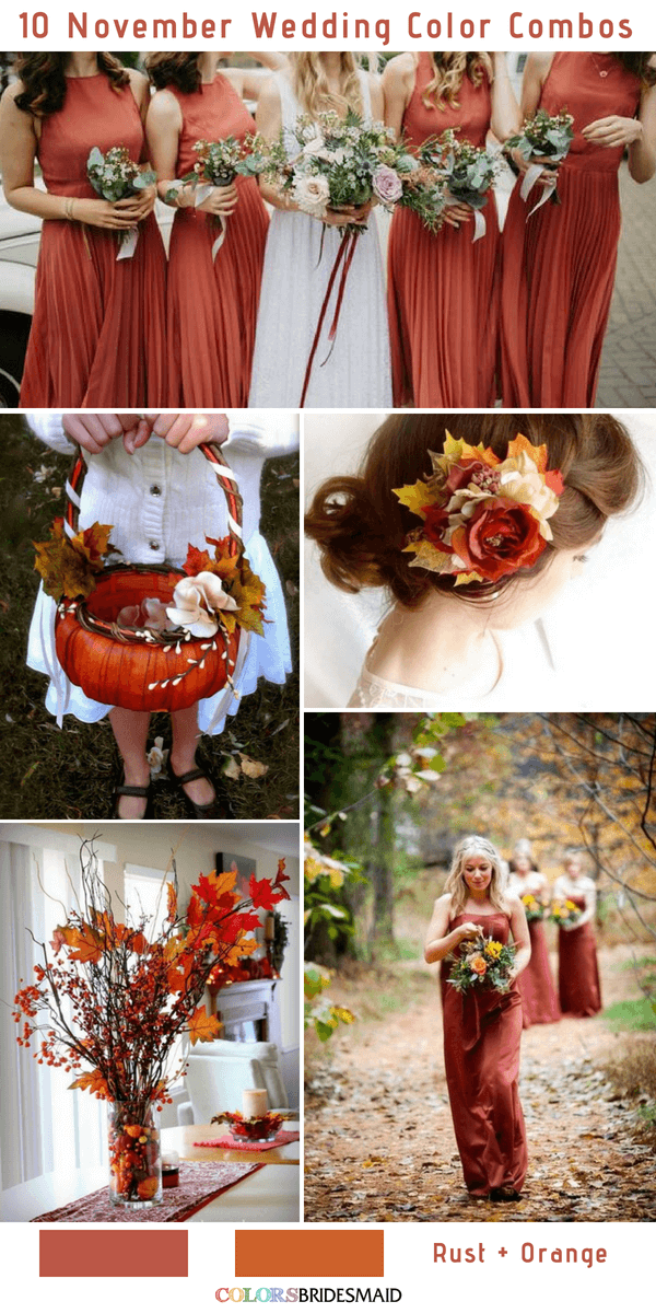 10 Gorgeous November Wedding Color Palettes in 2018 - ColorsBridesmaid