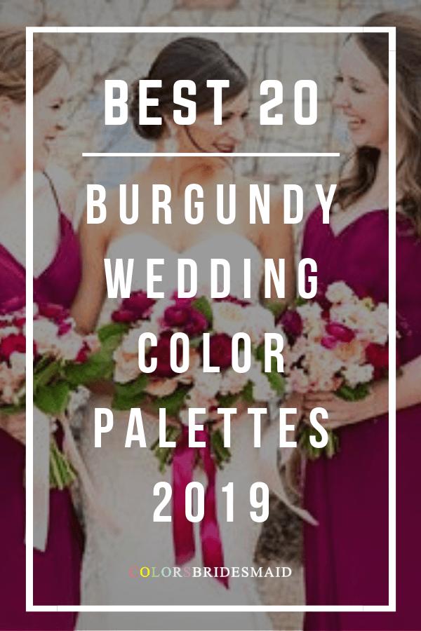 best burgundy wedding color palettes