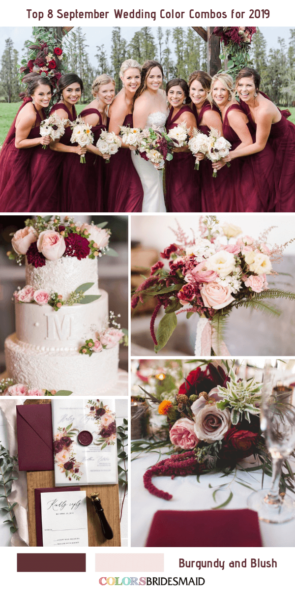 Top 8 September Wedding Color Combos For 2019 Colorsbridesmaid