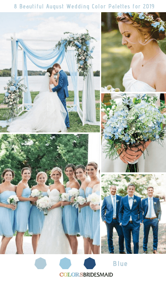8 Beautiful August Wedding Color Palettes For 2019 Colorsbridesmaid