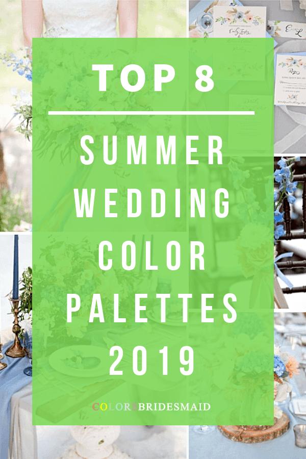 summer wedding color palettes 2019