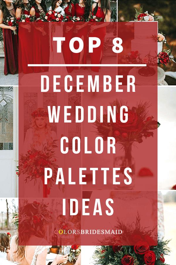 December wedding color palettes