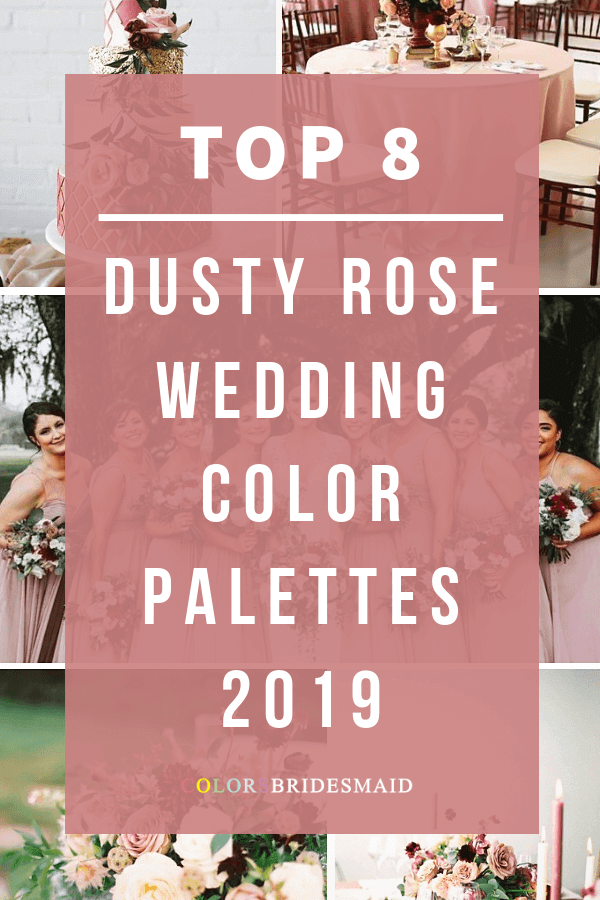 dusty rose wedding color palettes 2019