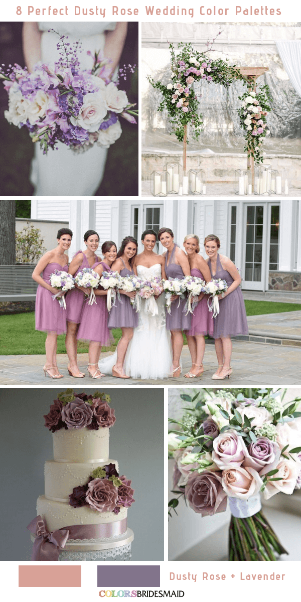 8 Perfect Dusty Rose Wedding Color Palettes for 2019 - Dusty Rose and Lavender