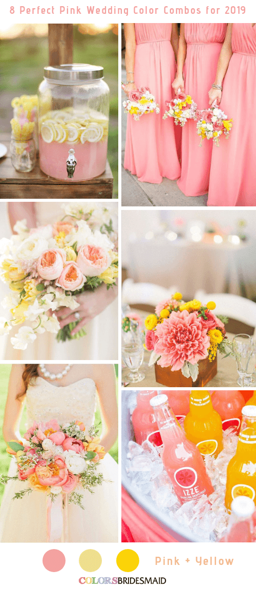 8 Perfect Pink Wedding Color Combos for 2019 - ColorsBridesmaid