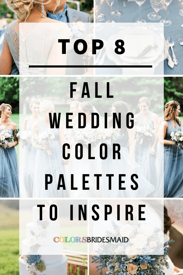 fall wedding color palettes to inspire
