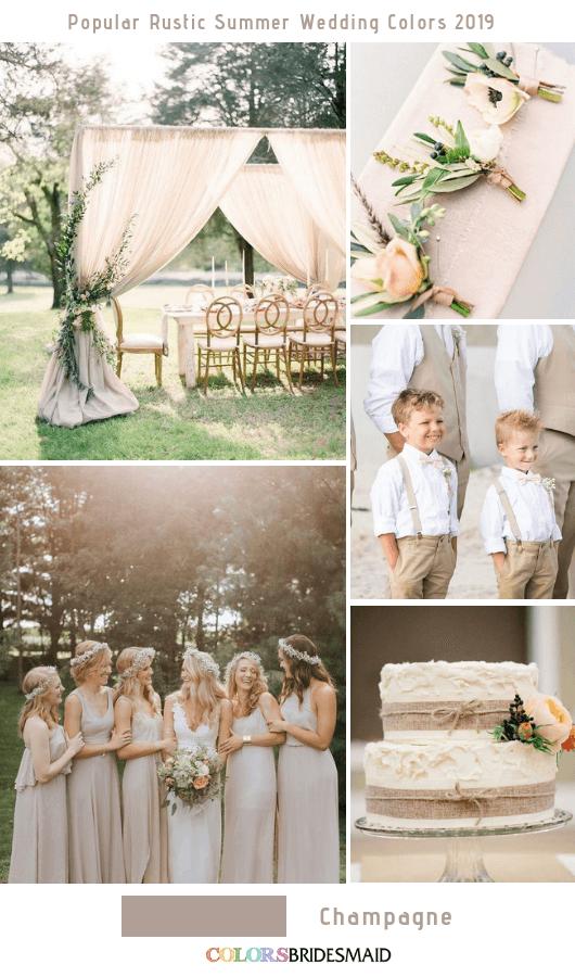 10 Popular Rustic Summer Wedding Color Ideas for 10