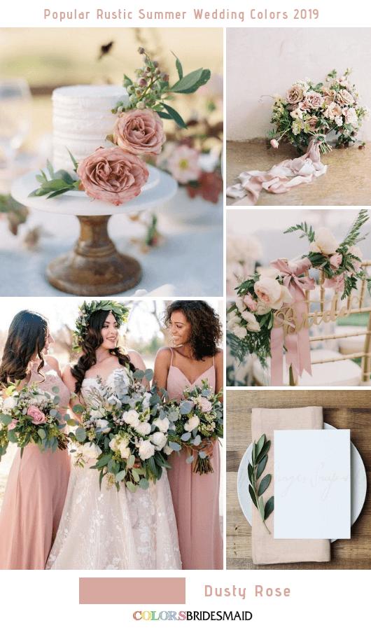 8 Popular Rustic Summer Wedding Color Ideas For 2019 Colorsbridesmaid