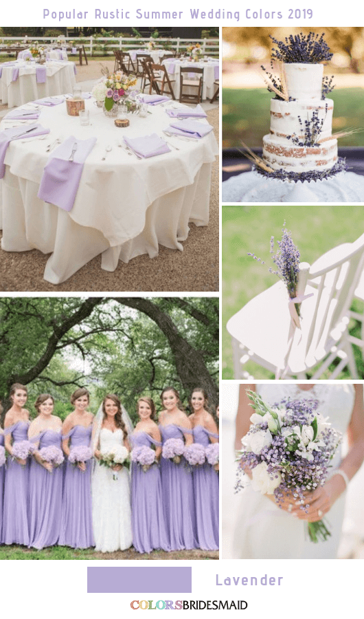 8 Popular Rustic Summer Wedding Color Ideas for 2019 - Lavender
