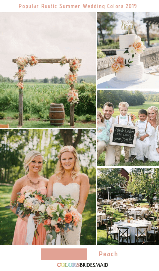 8 Popular Rustic Summer Wedding Color Ideas for 2019 - Peach