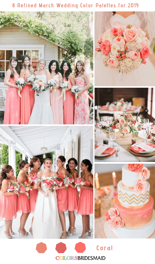 8 Refined March Wedding Color Palettes For 2019 C