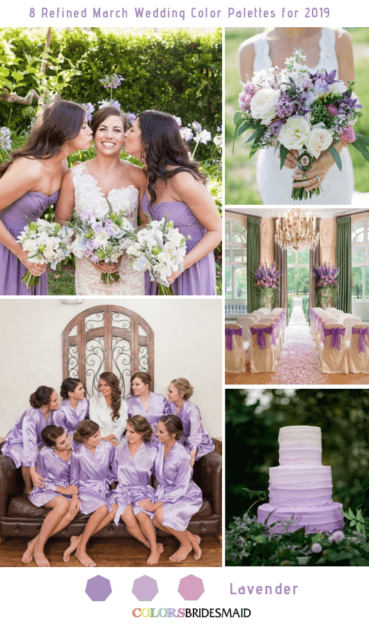 8 Refined March Wedding Color Palettes for 2019 - Lavender