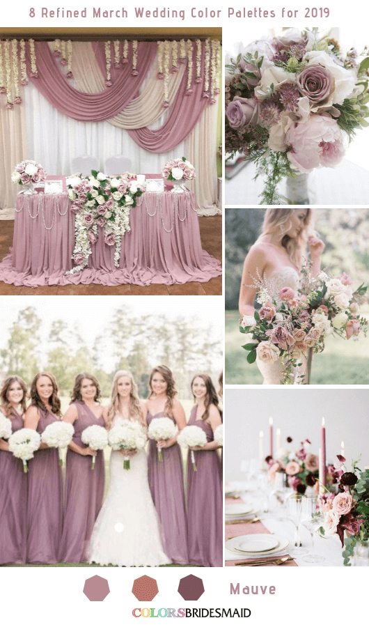 652943b319 8 Refined March Wedding Color Palettes for 2019 - ColorsBridesmaid