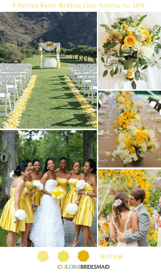 8 Refined March Wedding Color Palettes for 2019 - Yellow