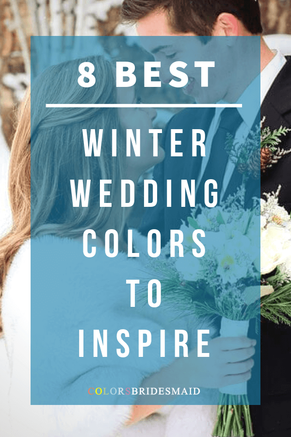 winter wedding color combos 2018