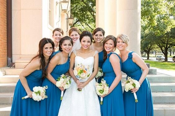 cornflower blue bridesmaid dresses for fall cornflower blue wedding