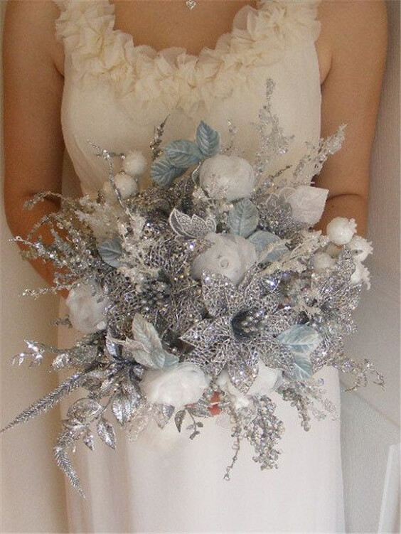Sparkling Ice Blue Aqua And Silver Winter Wedding Ideas