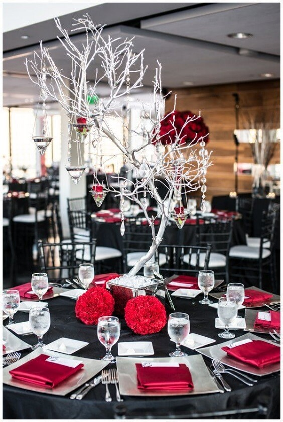 Beautiful Red Black And White Winter Wedding Color Ideas Colorsbridesmaid
