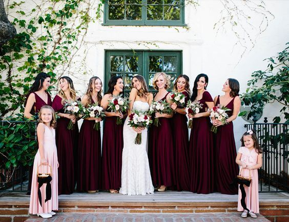 Refined Burgundy And Blush Spring Wedding Colors For 2019