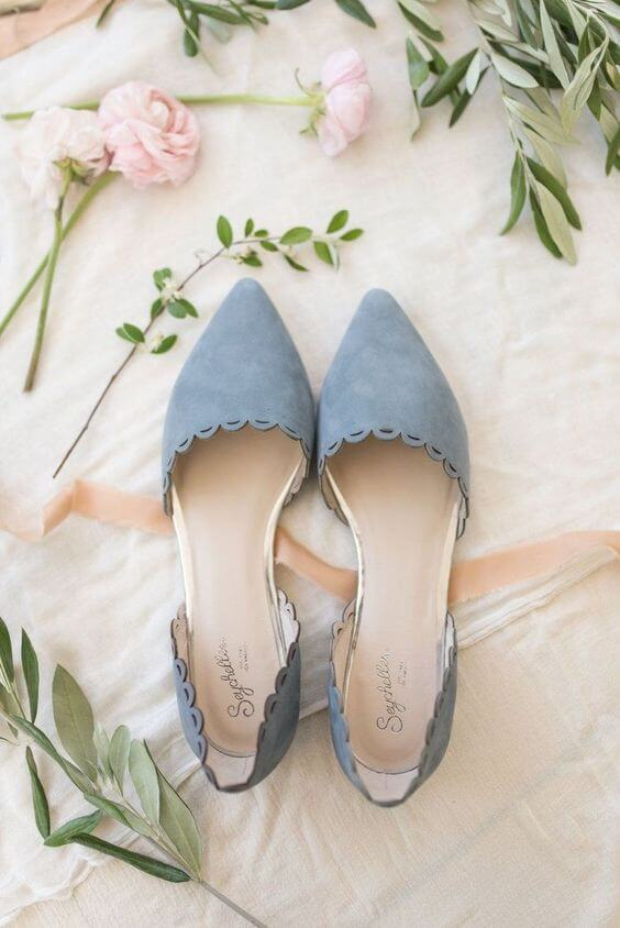 Dusty blue shoes for Dusty blue and Blush wedding