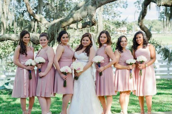 Bridesmaid dresses for Dusty rose wedding