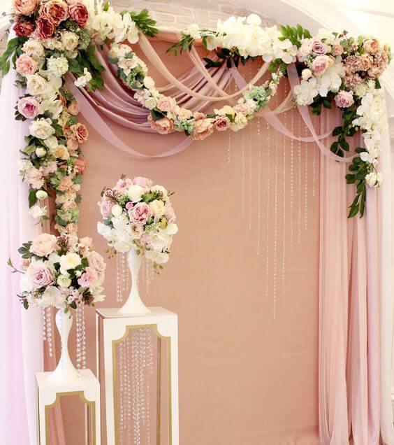 wedding arch for Dusty rose wedding