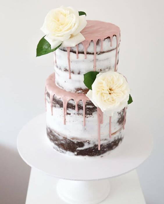 wedding cake for Dusty rose wedding