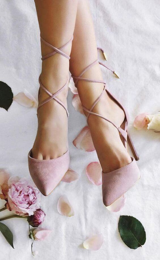 wedding shoes for Dusty rose wedding