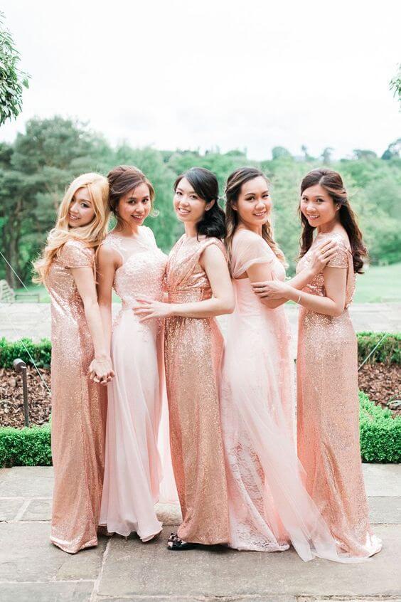 Glittering Rose Gold And Blush Spring Wedding Color Inspirations For 2019 Colorsbridesmaid