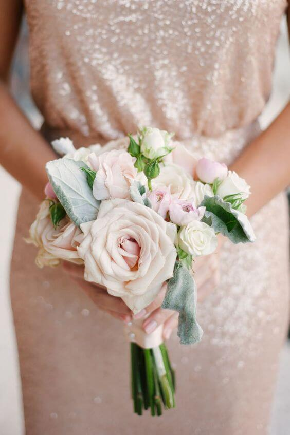 Rose gold bridesmaid dresses for rose gold and blush wedding