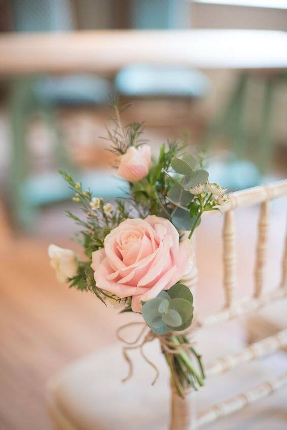 Blush flower decoration for blush and green wedding