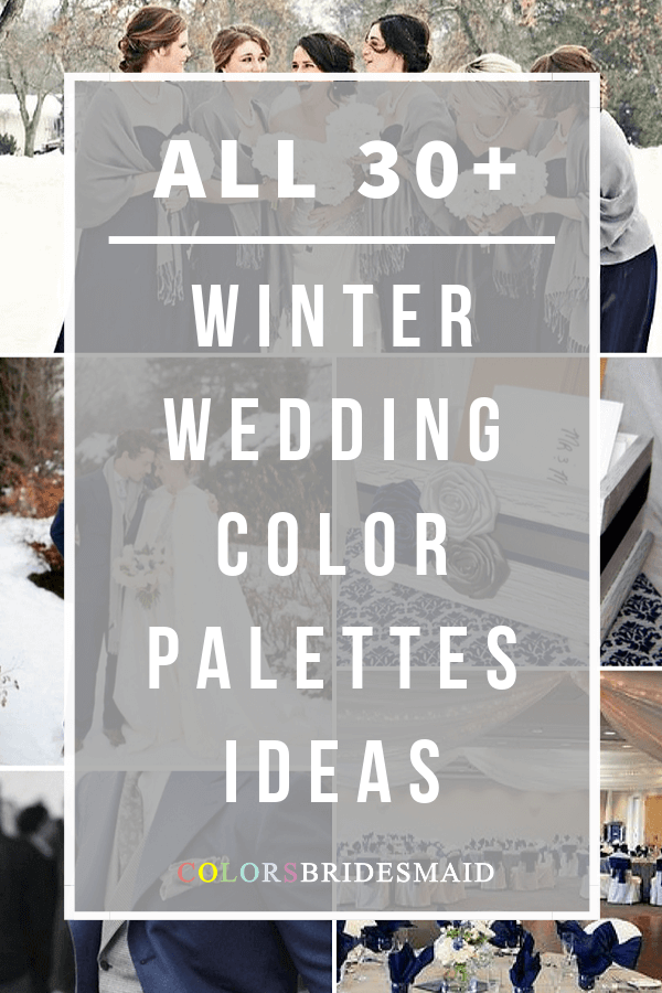 all winter wedding color palettes
