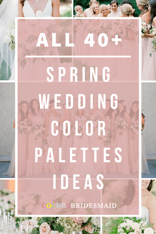 all spring wedding color palettes