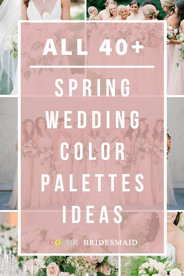 all spring wedding color palettes