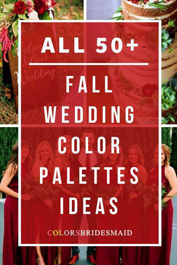 all fall wedding color palettes