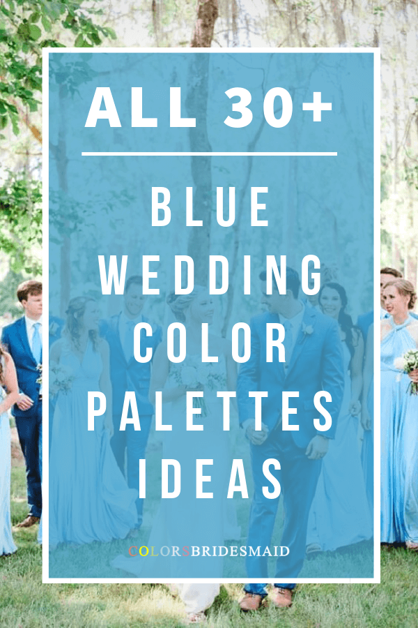 all blue wedding color palettes