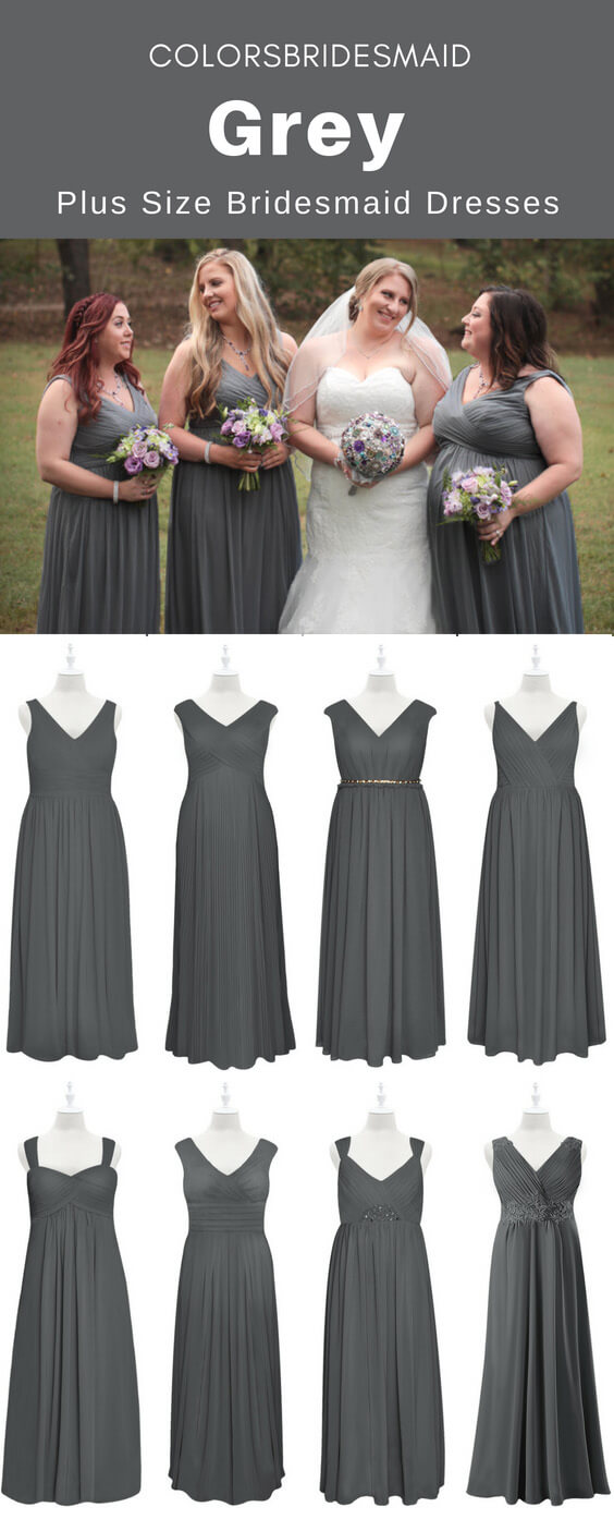 Amazing Plus Size Grey Bridesmaid Dresses That will Astonish ...