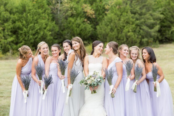 Bridesmaid Dresses for Rustic Wheat Fall Wedding