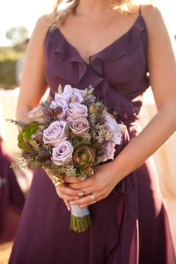 Bridesmaid dresses for Plum Fall wedding